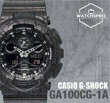 Casio G-Shock Analog-Digital Cracked Pattern Watch GA100CG-1A AU FAST & FREE