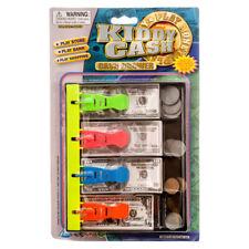 Play Money Cash Tray Drawer 20 Coins 20 Bills Kids Pretend Toy Money