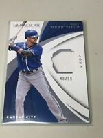 F30046 2018 Panini Immaculate Logo Game Used Jersey #WM Whit Merrifield /99
