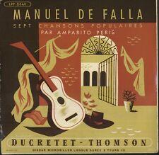 "G. THYSSENS-VALENTIN, A. PERIS, DE FALLA French EP 33 rpm 7"" DUCRETET 8640"