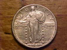 1921 STANDING LIBERTY QUARTER - FULL DATE/LIGHTLY CLEANED - AU/UNC - (X1716)