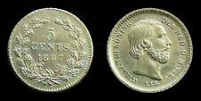Netherlands - 5 Cent 1887 Prachtig/UNC