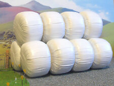 10 x FARM SILAGE WHITE BALES 1/32 SCALE DIORAMA FOR BRITAINS BRUSHWOOD FB035W