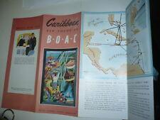 TARIF CARIBBEAN B.O.A.C. 1950 AVION AVIATION