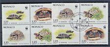 Monaco 2046/49 postfrisch u. gestempelt / Viererblöcke WWF (7885) ..............