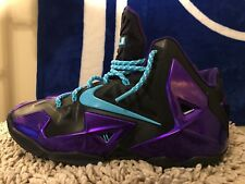 Nike Lebron 11 XI ID, 641216-991, Purple/Black, Men's Basketball Shoes, Size 9.5