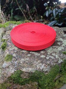 10 Meters Red 15mm Nylon Tape Webbing