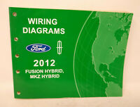 2012 Ford Fusion Lincoln Mkz Wiring Diagrams Electrical Shop Manual Ebay