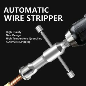 Manual Quick Stripper Wire Stripper Twister Drill Bit Power Tools Connector-
