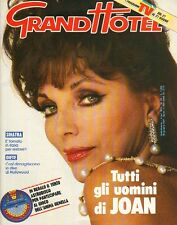JOAN COLLINS - Vintage Italian Magazine GRAND HOTEL August 26th 1987 C#32