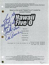 "ED ASNER Authentic Hand-Signed ""HAWAII FIVE-O"" Original Script"