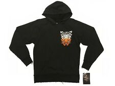 AFFLICTION MENS PULLOVER HOODIE SWEAT SHIRT BLACK FLOCKED UFC SIZE SMALL NEW $78