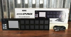 Korg nanoPad Slim-Line USB MIDI 16 Pad & X-Y Touch Controller Black