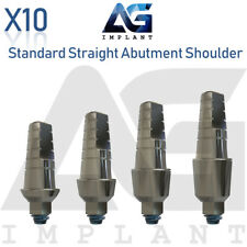 10 Standard Straight Abutment With Shoulder For Dental Implant Internal Hex