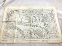 1882 Antique French Map Arcis sur Aube France Old 19th Century Original