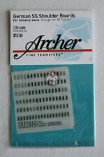 Archer Fine Transfers 1/35 German SS Shoulder Boards for Infantry Units FG35043A