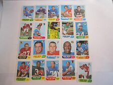 (94) 1968 NFL TOPPS FOOTBALL CARDS - BETWEEN 2 - 122 - MOSTLY GOOD TO NM -BOX CC