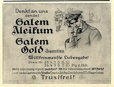 Salem Aleikum Salem Gold Orient Tabak Feldtelephon Historische Annonce von 1918