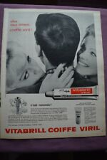 Ancienne publicité de presse - 1962 - VITABRILL COIFFE VIRIL / BAYER / LEGAL