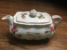 Vintage RARE L&M Pompadour Rose Bond Fine China  2 Cup Tea Pot Lipper & Mann