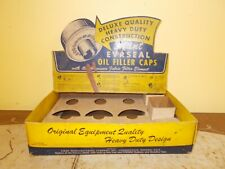 VINTAGE STANT OIL CAP STORE DISPLAY GAS STATION AUTO PARTS ADVERTIZING SIGN