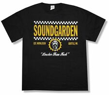 New Soundgarden Checkers Winter Tour 2013 Black T Shirt Louder Than F&