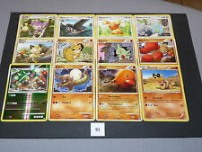 POKEMON,Pokemon,Karten,Griffel,Staravia,Haspiror,Kindwurm,Mauzi,Sandan ... (91)