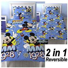 DISNEY Mickey Mouse Copripiumino Singolo Cool Quilt Cover & federa Set di biancheria da letto