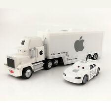MT Disney Cars No.84 White Apple Hauler Truck & Racer Diecast 1:55 Loose New