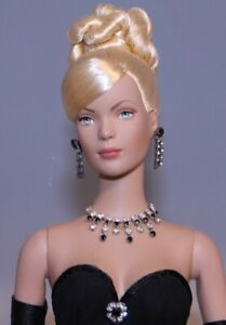 Tonner Tyler Blonde Updo in a OOAK Black Gown Outfit