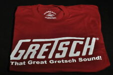 "GRETSCH ""THAT GREAT GRETSCH SOUND"" TEE SHIRT BURGUNDY MEDIUM"