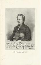 Alexander Fürst von Hohenlohe - Alter Druck Porträt aus den 30er Jahren Print