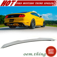 New listing 15-21 Fit FOR Ford Mustang V6 GT Coupe Rear Trunk Spoiler V Style - Unpaint