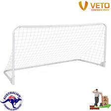 Veto Portable Soccer Goal Training Practice Metal Frame Fast Fold Net Pegs Clips