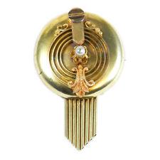 Antike Biedermeier Brosche/Anhänger 585 Gold & Perle Wien um 1870 Antique Brooch