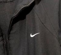 Vintage Nike Athletic Dept. Mens Full Zip Track Top Large Black White Swoosh
