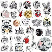 Fashion 925 Silver Charms Bead Pendant For Fit European Bracelets Bangle Chain