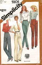 1980's VTG Simplicity Misses' Pants Pattern 5205 Size 12 UNCUT