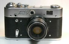 FED 3 camera with Industar 61 L/D lens and worn case, US seller (READ)