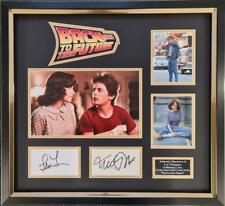 Michael J Fox & Lea Thompson Signed & Framed Back To The Future AFTAL & UACC COA