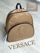🆕🧡❤️💜Versace Gold Luxury Backpack Rucksack 100% GENUINE Bag Pack in Dust Bag