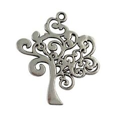 10Pcs Tibetan Silver TREE OF LIFE Charms T15998