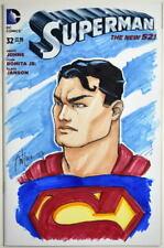 DC Sketch Cover SUPERMAN New 52 #32 Original Color Artwork by Artist Ant Lucia