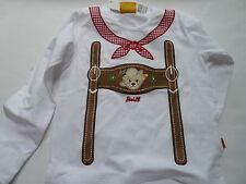 H/W 16-17  Steiff  wiesen boy Jungen Langarmshirt, bright white   gr. 86-98
