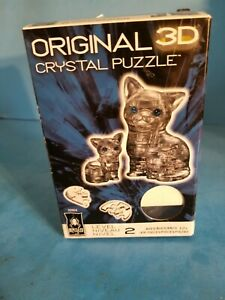 Black Cat & Kitten 49 Piece 3D Crystal Jigsaw Puzzle.New in Box.NO STICKERS.