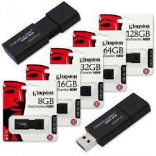 Kingston 8GB/16GB/32GB/64GB/ DataTraveler 100G3 USB Memory Stick Flash Drive -UK