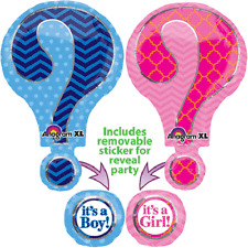 LARGE QUESTION MARK GENDER REVEAL FOIL BALLOON IT'S A BOY GIRL BABY SHOWER PARTY