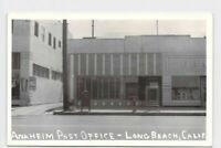 RPPC REAL PHOTO POSTCARD CALIFORNIA LONG BEACH ANAHEIM POST OFFICE EXTERIOR VIEW