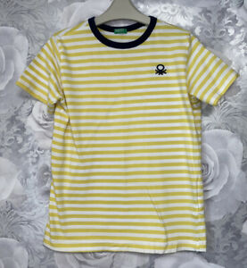 Boys Age 10-11 Years - Benetton Striped T Shirt