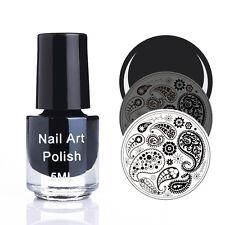 5ml Black Stamping Printed Polish Nail Art Stamp Printing Varnish Manicure DIY